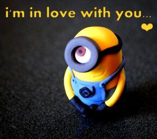 Обои на телефон я, цитата, ты, миньоны, милые, любовь, love, in love with you