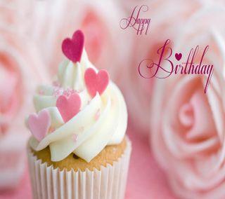 Обои на телефон пожелания, день рождения, удивительные, счастливые, розовые, крутые, кекс