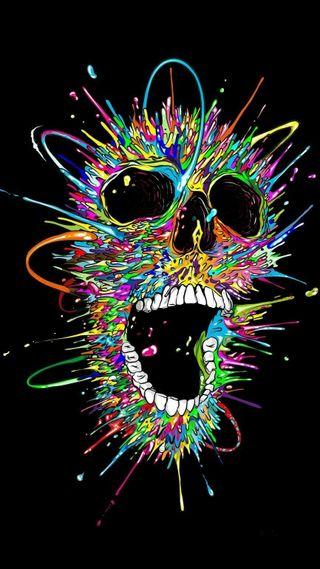 Обои на телефон смех, черные, череп, цветные, темные, смерть