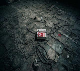 Обои на телефон знаки, exit