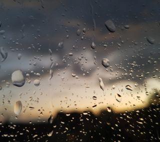 Обои на телефон окно, капли, дождь