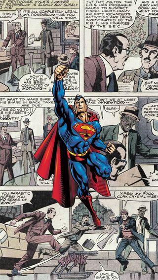 Обои на телефон супермен, комиксы