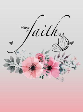Обои на телефон вера, цитата, цветы, серые, розовые, have