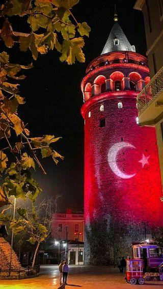 Обои на телефон турецкие, галата, башня