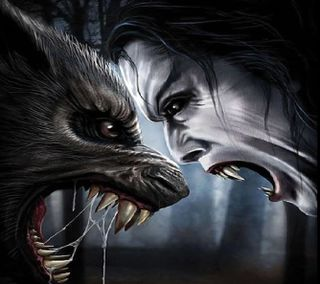 Обои на телефон против, оборотень, вампиры, werewolf vs vampire, grudge match unlimited