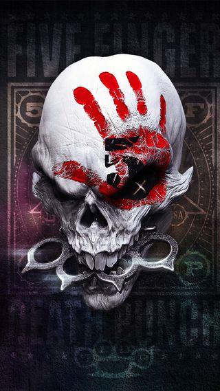 Обои на телефон ffdp, five, five finger death punch, темные, череп, музыка, смерть, панч, палец
