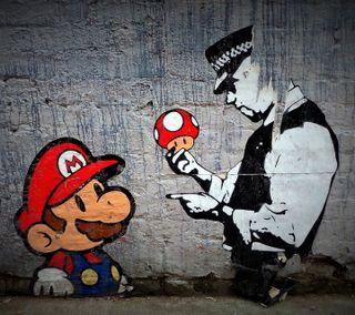 Обои на телефон супер, марио, graphite