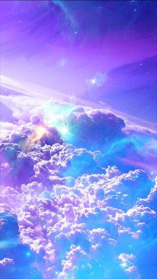 Обои на телефон солнечный, фон, синие, размытые, небо, галактика, взрыв, galaxy, bless