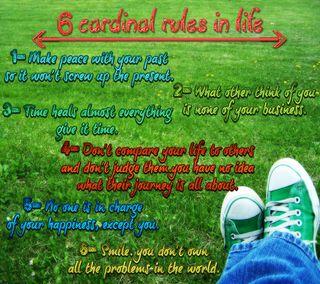 Обои на телефон счастье, цитата, смайлики, правила, правда, поговорка, жизнь, 6 rules in life