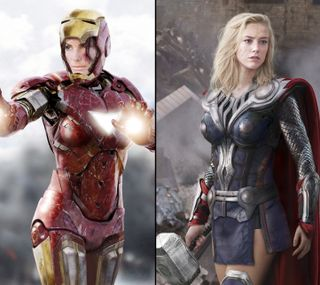 Обои на телефон тор, супер, super heroines, sandra, amber