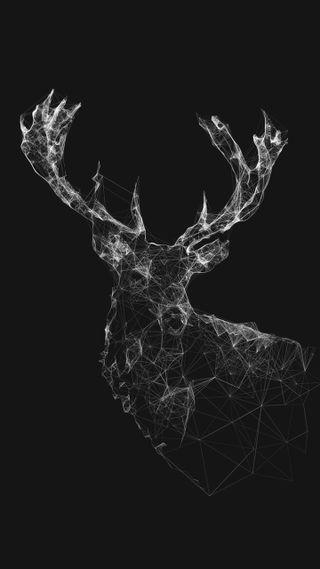 Обои на телефон олень, черные, арт, elk, art