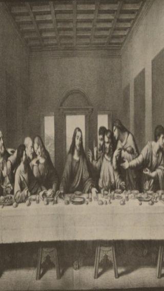 Обои на телефон религиозные, черные, исус, белые, the last supper