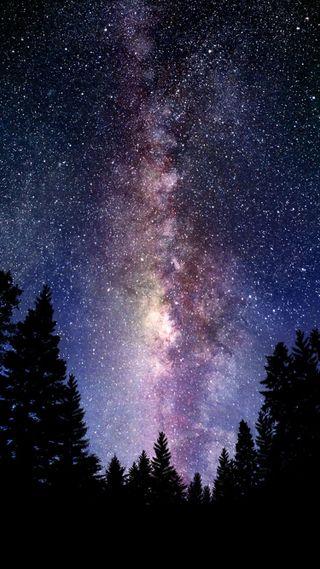 Обои на телефон ночь, космос, галактика, вселенная, galaxy