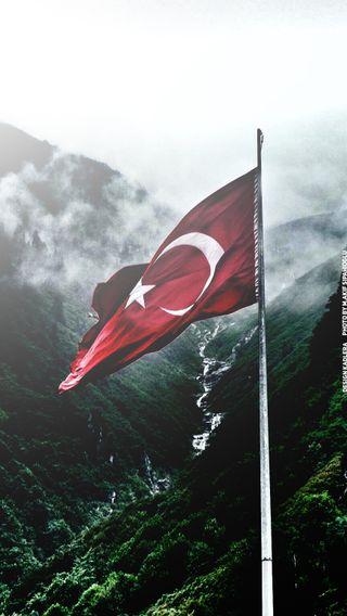 Обои на телефон турецкие, флаг, bayragi