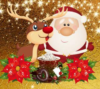 Обои на телефон счастливое, санта, рождество, мультики, 1440x1280px