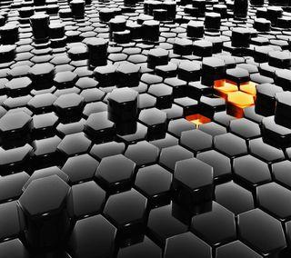 Обои на телефон шестиугольники, черные, арт, абстрактные, art, 3д, 3d hexagons, 3d