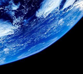 Обои на телефон планета, синие, небо, космос, земля