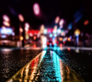 Обои на телефон нокиа, улица, символ, огни, новый, крутые, город, xperia