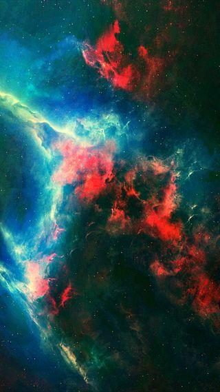 Обои на телефон galaxy, галактика, небо, красочные, аврора