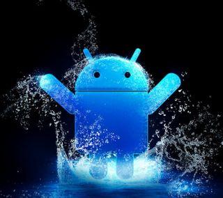 Обои на телефон самсунг, неоновые, галактика, андроид, samsung galaxy s4, neon android, 2160x1920