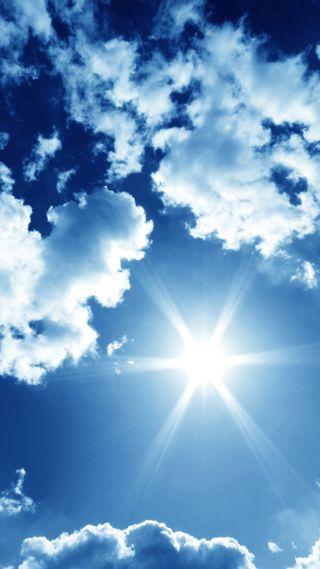 Обои на телефон солнечный свет, солнце, природа, погода, облака, небо