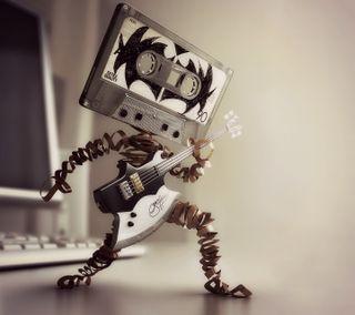 Обои на телефон гитара, рок, приятные, новый, cassette rocker