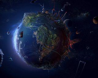 Обои на телефон фантазия, мир, земля