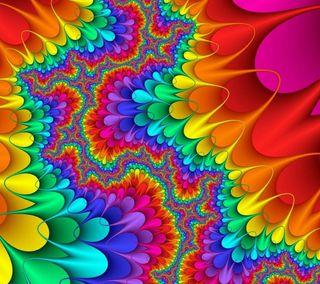 Обои на телефон цветы, абстрактные, 2160x1920