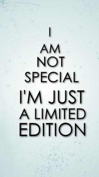 Обои на телефон специальные, забавные, другие, phrase, i am not special