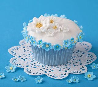 Обои на телефон украшение, цветы, торт, синие, милые, конфеты, кекс