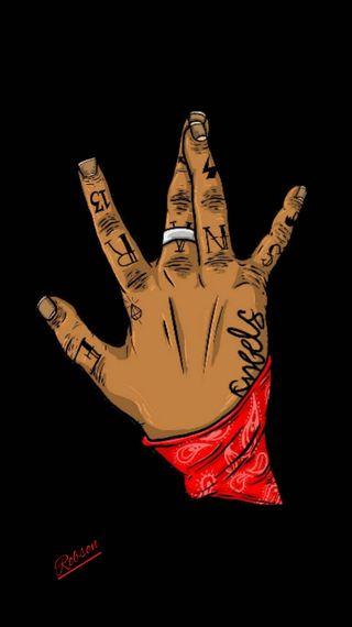 Обои на телефон банда, черные, тупак, кровь, makeveli, black man, 2pac