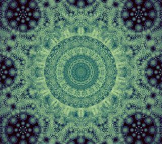 Обои на телефон спираль, фрактал, синие, орнамент, мандала, зеленые