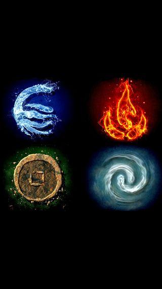 Обои на телефон элементы, символы, символ, огонь, земля, вода, ветер, аватар, ground, air