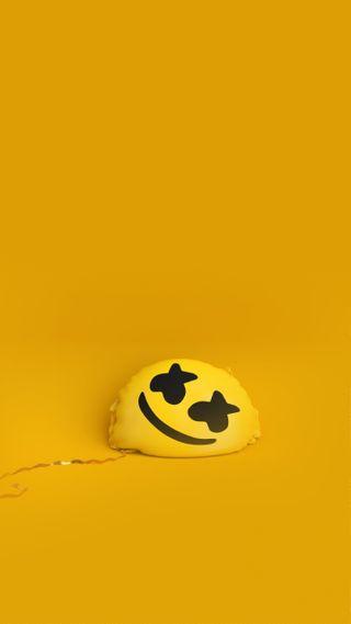 Обои на телефон маршмеллоу, желтые, marshmello happier