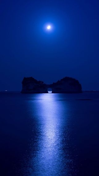 Обои на телефон глубокие, синие, природа, океан, ночь, deep blue night