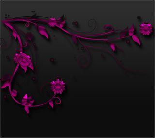 Обои на телефон цифровое, черные, цветы, фиолетовые, розовые, дизайн, векторные, арт, абстрактные, art