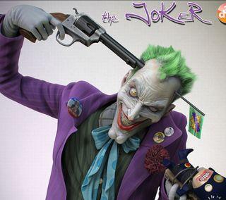 Обои на телефон голова, оружие, джокер, бэтмен, joker gun to head