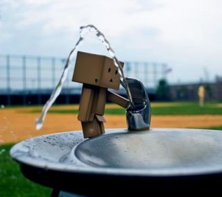Обои на телефон коробка, робот, amazon box robot 13, amazon