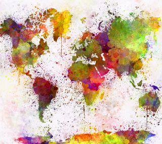 Обои на телефон карта, мир, акварель, абстрактные, countries