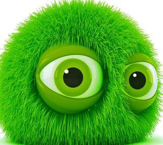 Обои на телефон лицо, зеленые, monster
