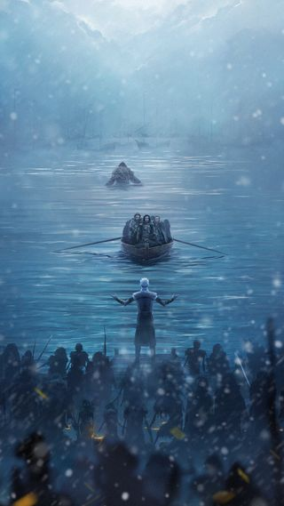 Обои на телефон престолы, игра, зима, здесь, winter is here - got, got, coming