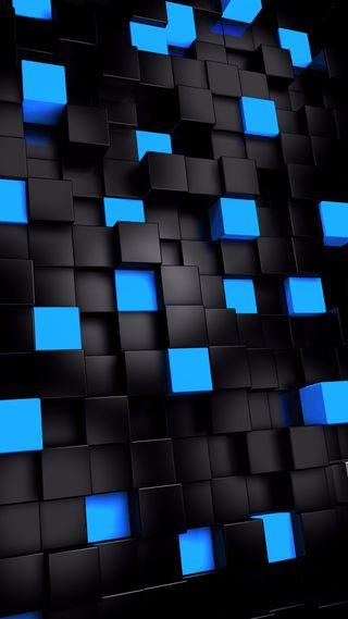 Обои на телефон черные, синие, кубы, куб, квадраты, зеленые, блоки, fondo, plus, hd, en, blue squares