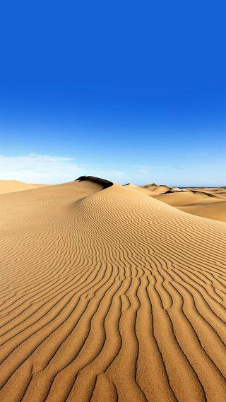Обои на телефон пустыня, синие, природа, песок, небо