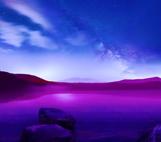 Обои на телефон синие, пейзаж, абстрактные, g3 land abstract 2, g3