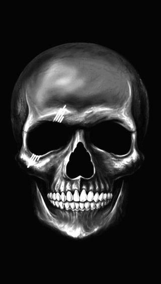 Обои на телефон череп, темные, scare