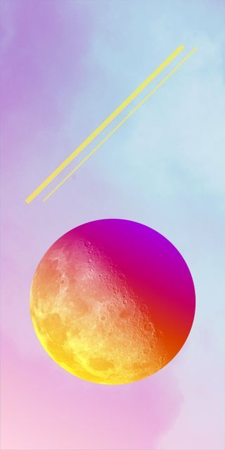 Обои на телефон цветные, луна, домашний экран, дизайн, xl, quadhd, pixel, color moon