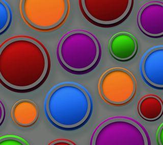 Обои на телефон цветные, фон, круги, красочные, абстрактные