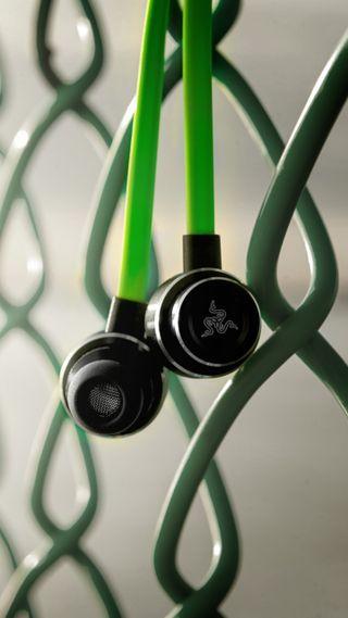 Обои на телефон наушники, мобильный, зеленые, razer