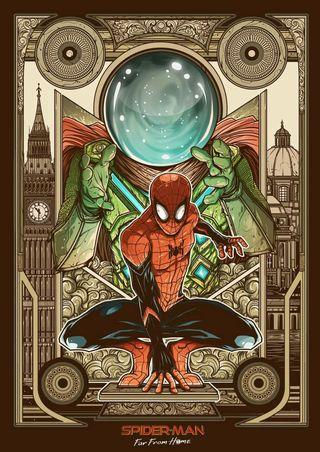 Обои на телефон том, человек паук, от, дом, джейк, далеко, mysterio, holland, gyllenhaal