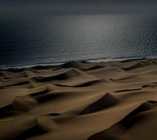 Обои на телефон пустыня, природа, пейзаж, океан, desert ocean